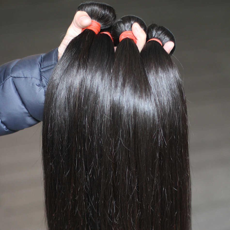 Rosabeauty 8 28 zoll Haar Produkte Malaysisches Reines Haar Gerade 3 Bundles/lots Natürliche Farbe 100% Menschliches Haar Bundles freies Schiff