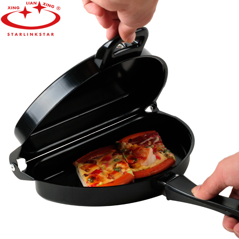 Starlinkstar 1PC Folding Omelette Pan Non-stick Hand Frying Pan Usful Breakfast Crepe Pan Grill Pan Pancake Cookware No Smoke
