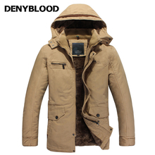 Denyblood Jeans 2017 New Fashion Winter Jacket Men Breathable Warm OutdoorSport Coat Parkas Thickening Casual Cotton-Padded 6658