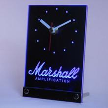 Tnc0437 Marshall guitars Bass Amplificadores mesa escritorio 3D LED reloj