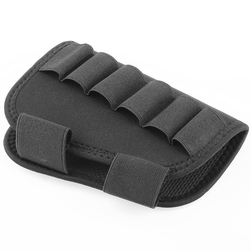1Pcs Portable Adjustable Tactical Butt Stock Rifle Cheek Rest Pouch Bullet Bag For 6pcs Loading Stock Hunting Outdoor Tools