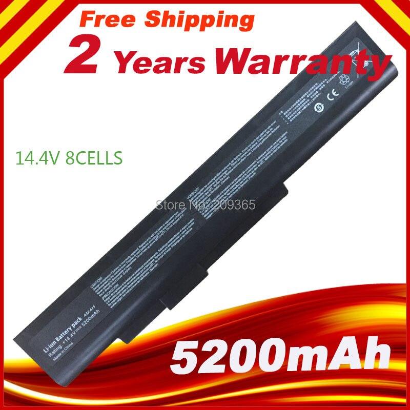 8 Cells  14.4V  Laptop battery for  Notebooks: DNS A15HC battery A42-A15