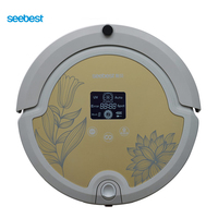 Robot Vacuum Cleaner With Rolling Brush Intelligent Anti Fall Vacuum Cleaner LCD Screen Seebest C571 Russia