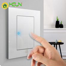 86 Type White Tempered glass Switch 1 2 3 4 gang way Lizard Point Comuter TV Telephone Socket Household Wall