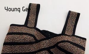 Image 3 - Bralette corto ajustado con lentejuelas y purpurina para mujer, corpiño Sexy, Top corto ajustado, Tops de tubo elásticos