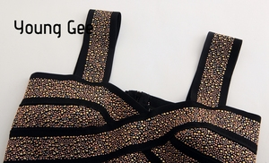 Image 3 - Jong Gee Punk Stijl Korte Glitter Sequin Bustier Vrouwen Sexy Bralette Bandage Crop Top Femme Elastische Buis Camisoles Tops Mujer