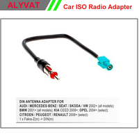 Car DVD Autoradio Stereo Radio Antenna Aerial Adapter For AUDI MERCEDES SEAT SKODA VW PEUGEOT RENAULT