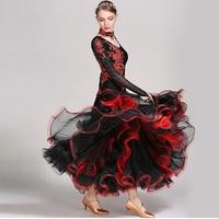 Embroider Adult Ballroom Competition Dance Dresses Waltze Modern Dance Performance international standard dancewear for women