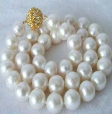 Huge 12mm South Sea White Shell pearl necklace 18 AAA>Selling jewerly free shipping