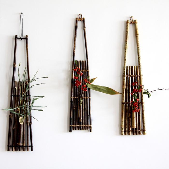 Wall Mounted Bamboo Flower Basket Floral Wall Hanging Pendants Vasos  Decorativos Vertical Garden Jardim Vertical Handmade In Vases From Home U0026  Garden On ...