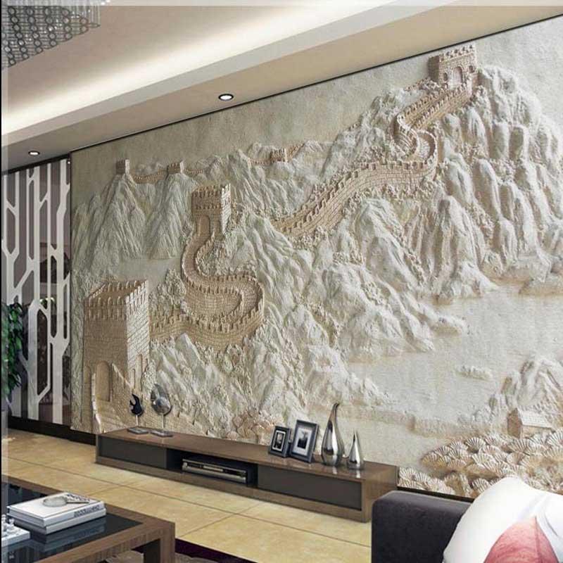 3d Wallpaper For Bedroom Price Wallpaper Great Wall Sandstone 3d Mural Non Woven Bedroom