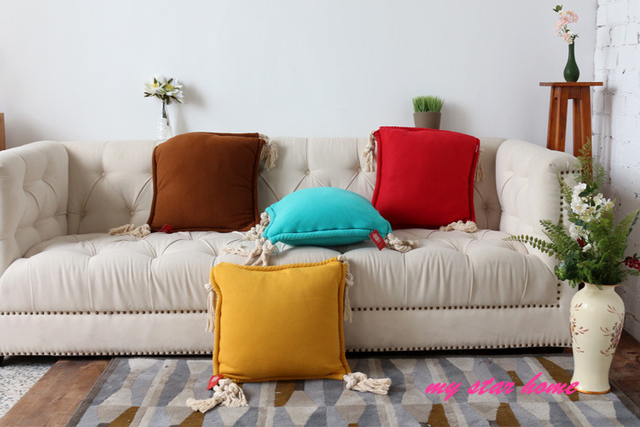 Us 19 34 18 Five Colors Sofa Pillow Cushion Creative Customization Velve Decorative Throw Pillows Yellow Cover In From