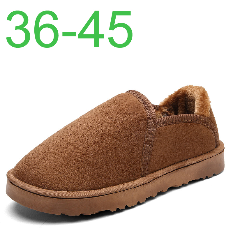 Winter Hot Sale Warm Men Cotton Slippers Shoes Big Size 36-45 Winter Wrapped Heel Home Slippers Men With Fur Mans Footwear