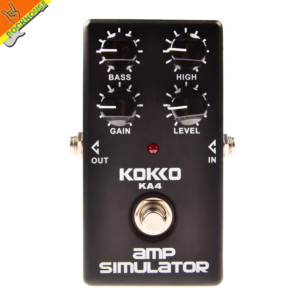 ФОТО KOKKO KA-4 Amp simulator British tube distortion guitar effect pedal simulate JCM Amplifier and 1960A cabinet  free shipping
