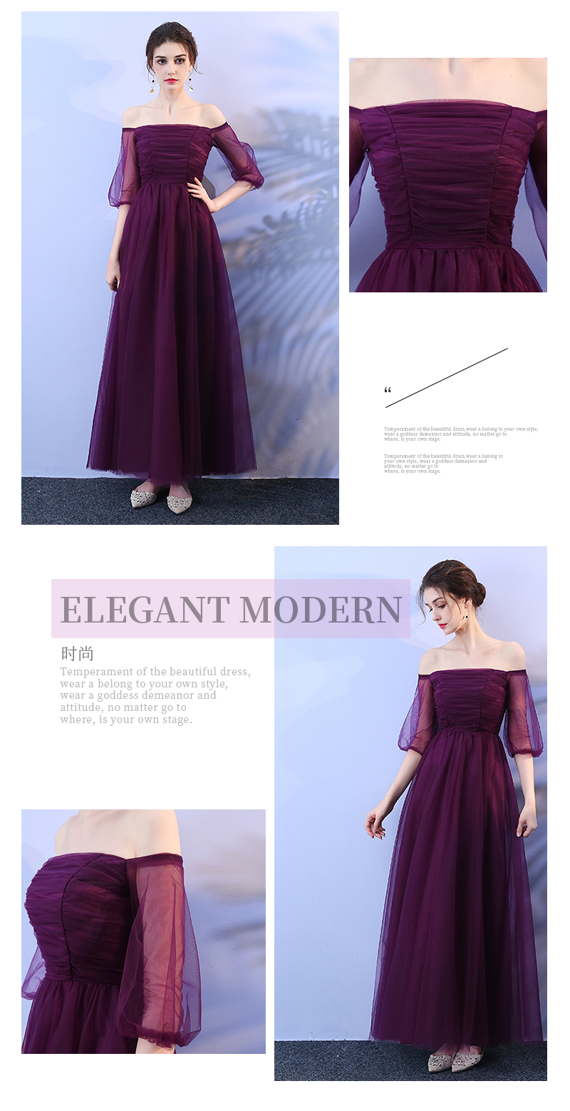 Grape Purple Dress Wedding Party Dress Women Dress for Bridesmaid Adult Empire Bank of Bandage in Bridesmaid Dresses from Weddings Events