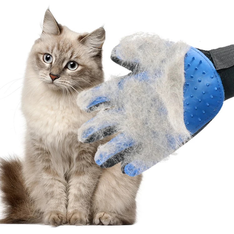 Pet Cat Glove For Cats Grooming Deshedding Brush Glove Dog Gentle Efficient Back Massage Fur Washing Bathing Comb