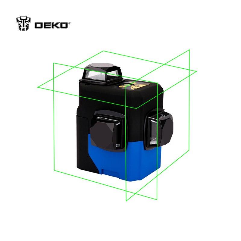 Лазерный уровень DEKO HV LL12R 3D (12 линий, зелёный)