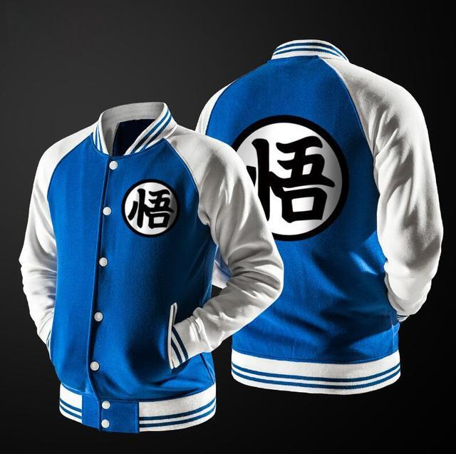 Goku's Turtle Hermit Symbol Varsity Jacket (Blue)