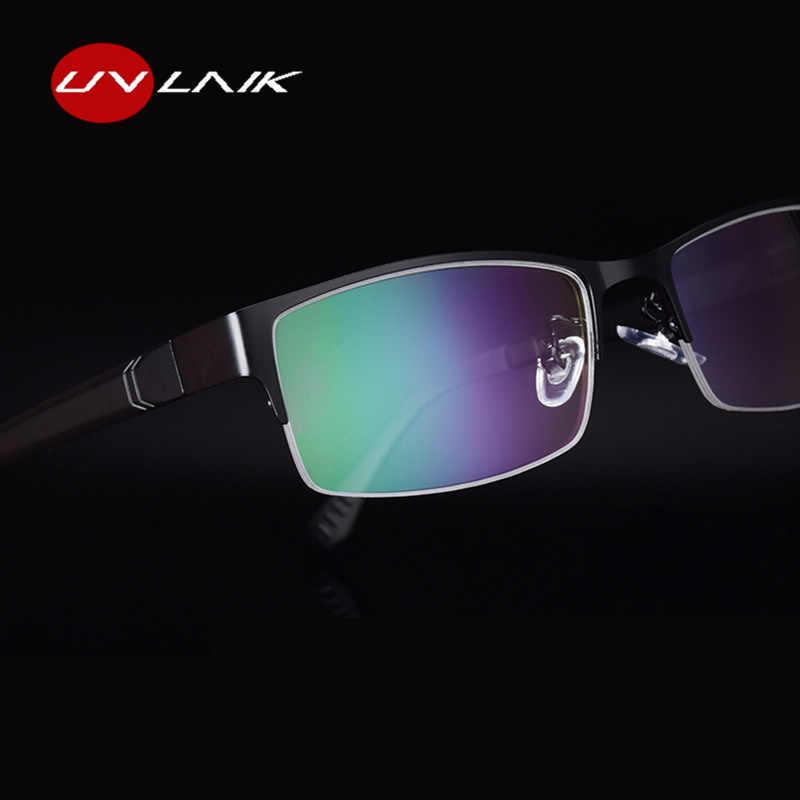 UVLAIK Для мужчин Оправы для очков прозрачный модный бренд TR90 классические деловые очки оправа для миопии оптика очки с прозрачными стеклами
