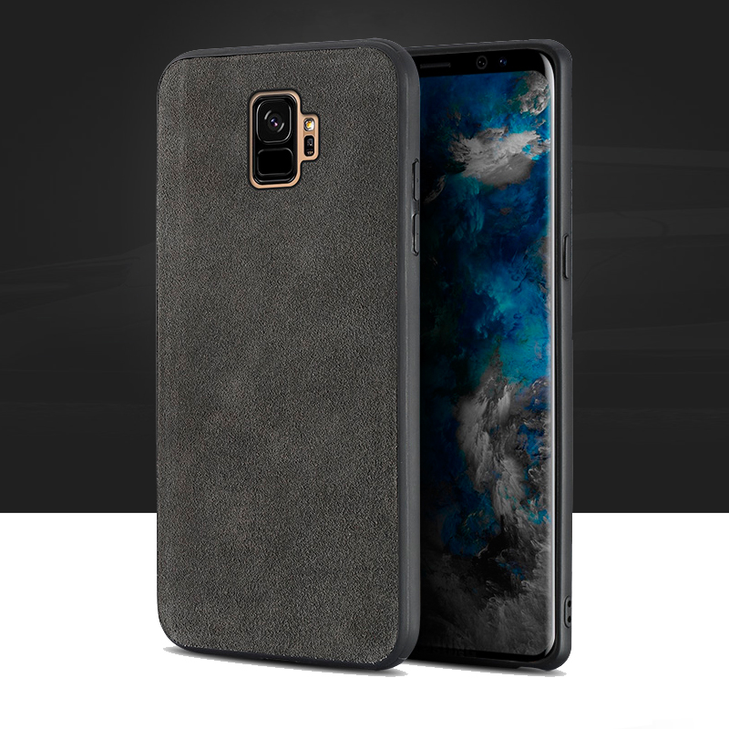 Genuine leather Phone case For Samsung S9 Plus case Suede leather back cover For Note 8 S7 S8 A5 A7 A8 J5 J7 2017 cases