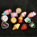 1PC Lovely Handmade Resin Food Stud Earrings Ice Cream Hamburger Ear Studs for Women Girls Jewelry Christmas Gift