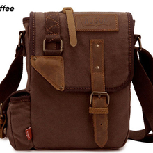 Мода, винтажная Военная холщовая кожаная мужская сумка-мессенджер, сумка через плечо, Холщовая Сумка на плечо, Повседневная сумка