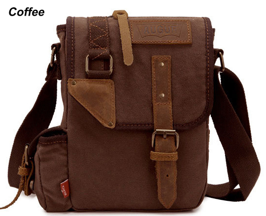 6aee6a473d56 Fashion 2015 Vintage Military Canvas Leather Men Messenger Bag Crossbody Bag  Canvas Shoulder Bag Sling Casual Bag Free shipping-in Crossbody Bags from  ...