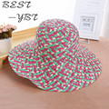 Specials 2016 new braided straw hat along the beach large outdoor UV sun hat