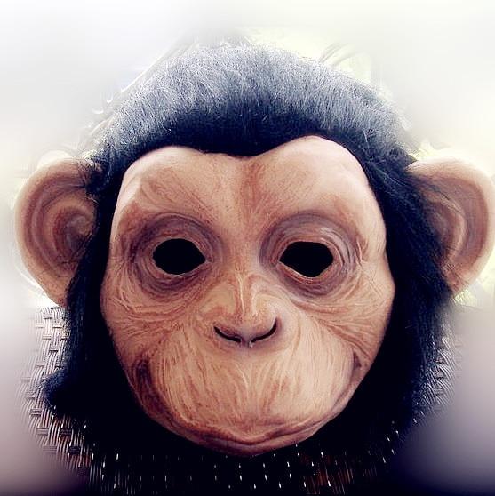 Grand Theft Auto Fantezi Elbise Maymun maskesi Şempanze Maskeleri - Tatiller ve Partiler Için - Fotoğraf 4