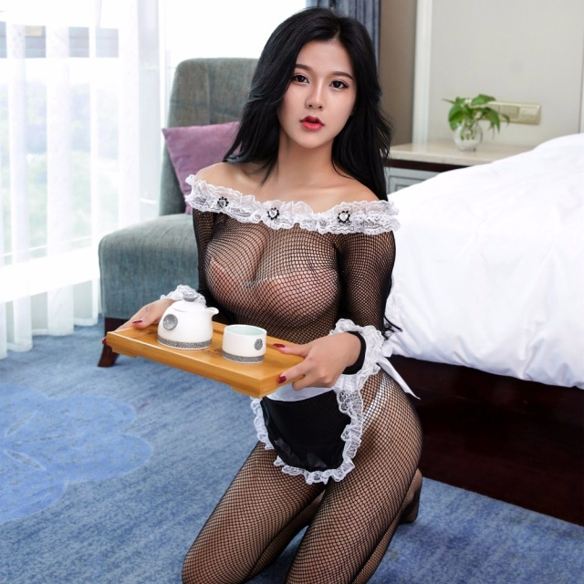 New Porn Women Lingerie Sexy Hot Erotic Maid Role Play -8604