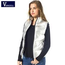 Vangull осенне зимний жилет женский 2021 Женская куртка без