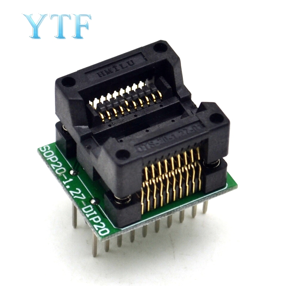 SOP20 + 5 1.27  Wide Body SOP8 Adapter Socket To DIP20 Top Quality Chip Programmer