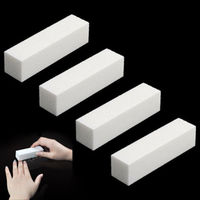 4 Pcs/Pack Nail Art Buffer File Block Pedicure Manicure Buffing Sanding Polish White Makeup Beauty Tools Nail Art Accessories