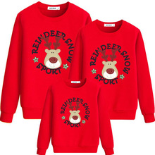 Family Clothing Autumn Cotton Father Son Boys Women Girl T Shirt Christmas Deer Mother Daughter Clothes Family Matching Outfit family christmas clothes mother daughter father son t shirt family matching clothes mommy and me clothes family look outfit