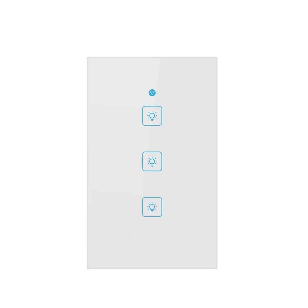 WiFi panel switch three open US regulations socket Mobile APP control Exquisite shell