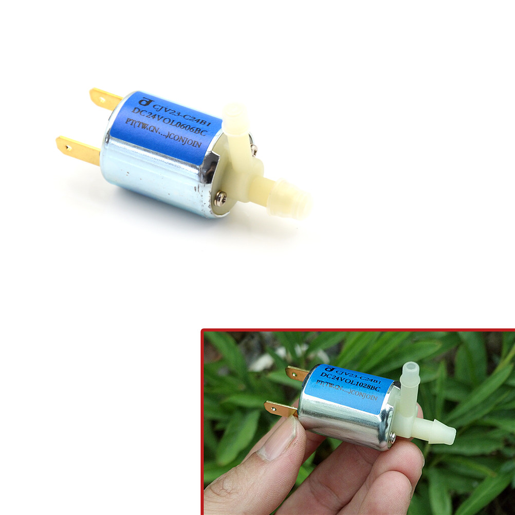 1pc DC 12V Small Plastic Solenoid Valve For Gas Water Air Normally Closed