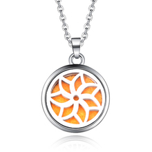 Hexagonal pattern Aroma Box Necklace Magnetic Stainless Steel Aromatherapy Essential Oil Diffuser Perfume Locket Pendant