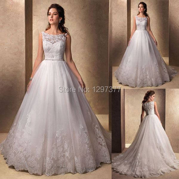 Custom Made New Wedding Gowns Modest Wedding Dress Lace Covered Back