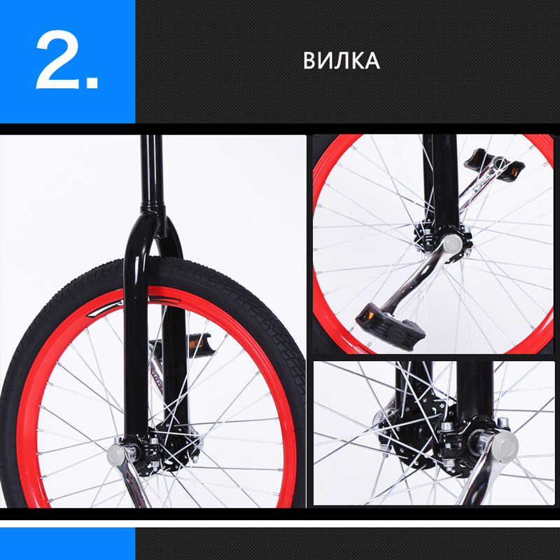 Sepeda Gunung Sepeda MTB 20 Inch Single Sepeda Roda Aluminium Roda Gerobak Olahraga Unicycle Bahu Roda Tunggal Roda BMX