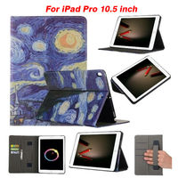 For Ipad Pro 10 5 2017 Flip PU Leather Case Print Tablet Cover Fundas For Apple