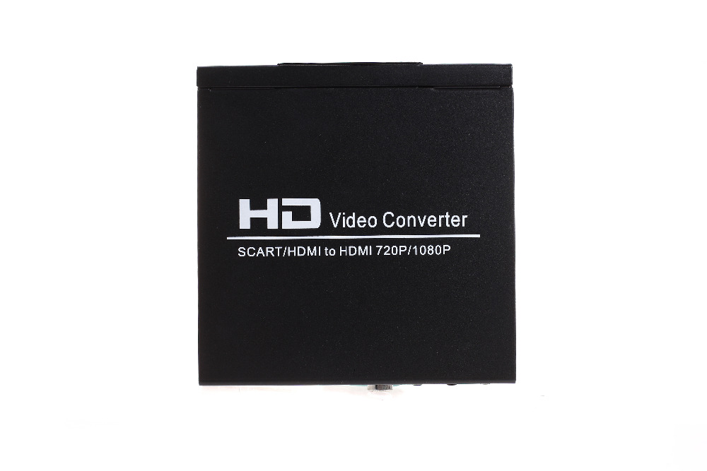 SCART +HDMI to HDMI Converter upscaler 1080p HD video converter for HDTV XBOX360 PS3  DVD WII STB HDMI Splitter Free shipping