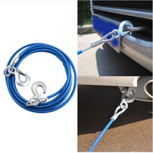 5T 4M Car Tow Rope Strap,Car Vehicle Boat Steel Wire,Car Styling Synthetic Winch Cable Strong, durable, easy to accept