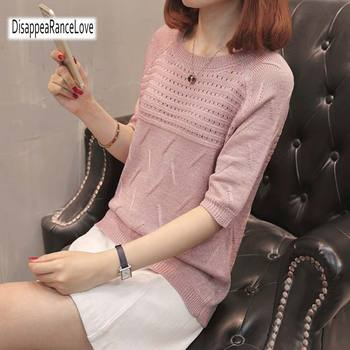 2019 Winter Autumn Women Sweaters and Pullovers O-neck Casual Hollow Out Sweater Solid Knitted Loose Jumpers Swetater autumn winter women cotton sweaters and pullovers korean style long sleeve o neck casual sweater loose solid knitted pullovers