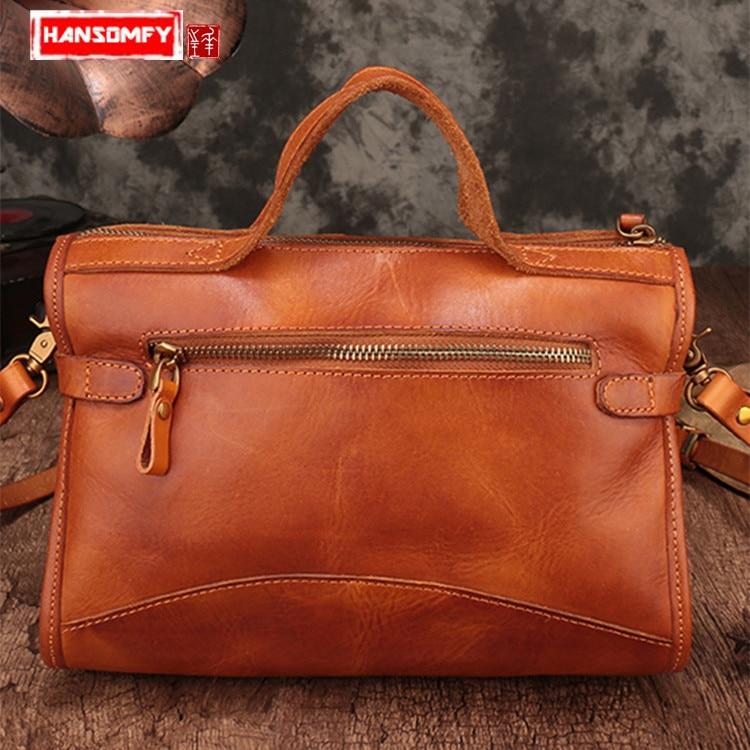 Здесь можно купить  Handmade vegetable tanned leather Women handbag female small square bag wild single shoulder bags slung messenger bag tide  Камера и Сумки