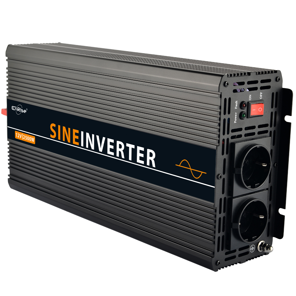 2500w 5000w peak pure sine wave solar power inverter DC 12V to AC 220V 230V in