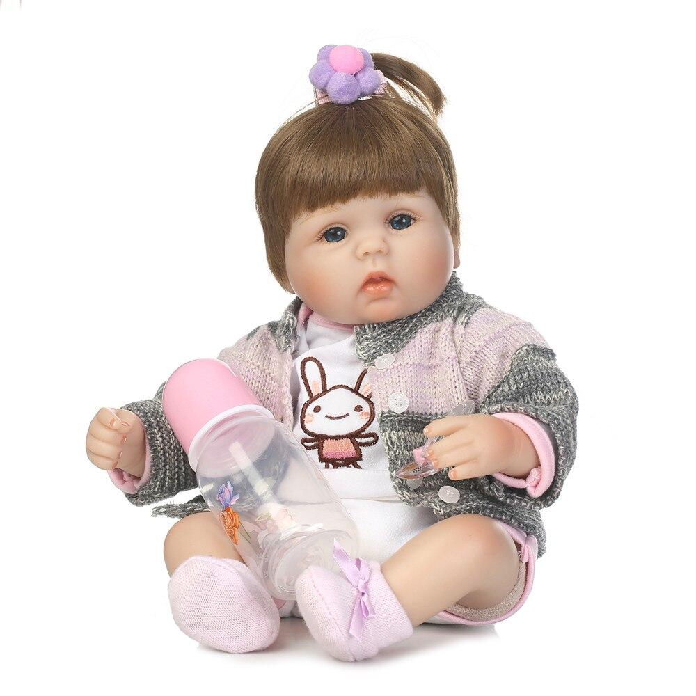 NPK 40 CM Bebes Reborn poupées tissu corps Silicone Rebron bébés fille sucette magnétique jouets nouveau-né Bonecas brinquedos enfants cadeau