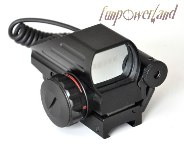 Funpowerland Electro Green & Red Dot Combo with pressure switch Laser Sight Scope 102 module green dot laser sight pressing switch controlled with mounts
