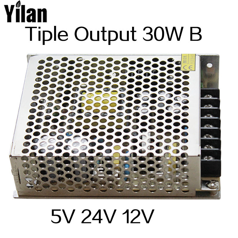 30W Triple output 5V 24V -12V Switching power supply smps AC to DC meanwell 12v 350w ul certificated nes series switching power supply 85 264v ac to 12v dc
