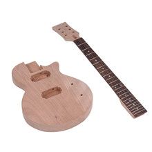 Children LP Style Unfinished DIY Electric Guitar Kit Mahogany Body & Neck Rosewood Fingerboard Double Dual-coil Pickups(China)