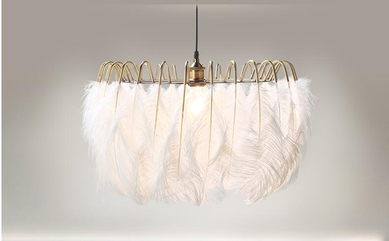 White Feather Chandelier Children S Room Art Lamp In Covers Shades From Lights Lighting On Aliexpress Alibaba Group
